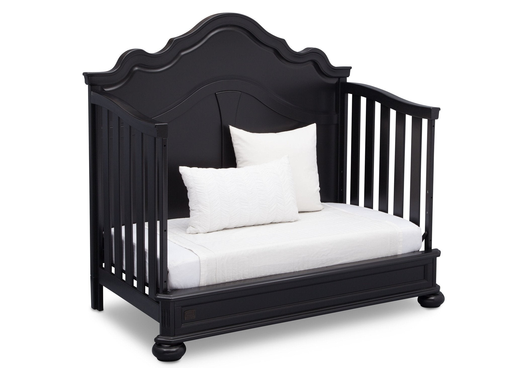 Simmons Kids Ebony (0011) Peyton Crib n' more Daybed conversion side view b5b