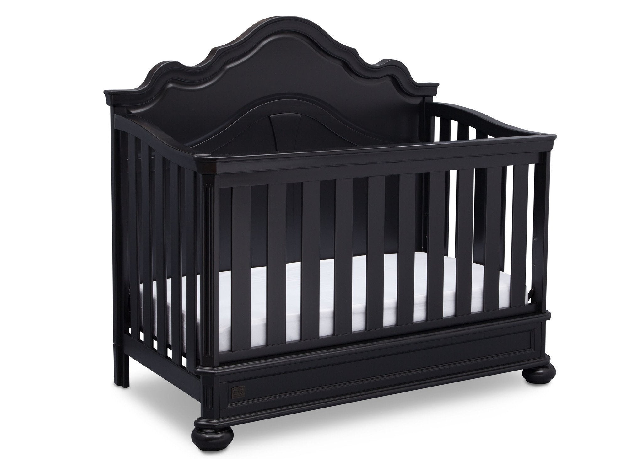 Simmons Kids Ebony (0011) Peyton Crib n' more side view b3b