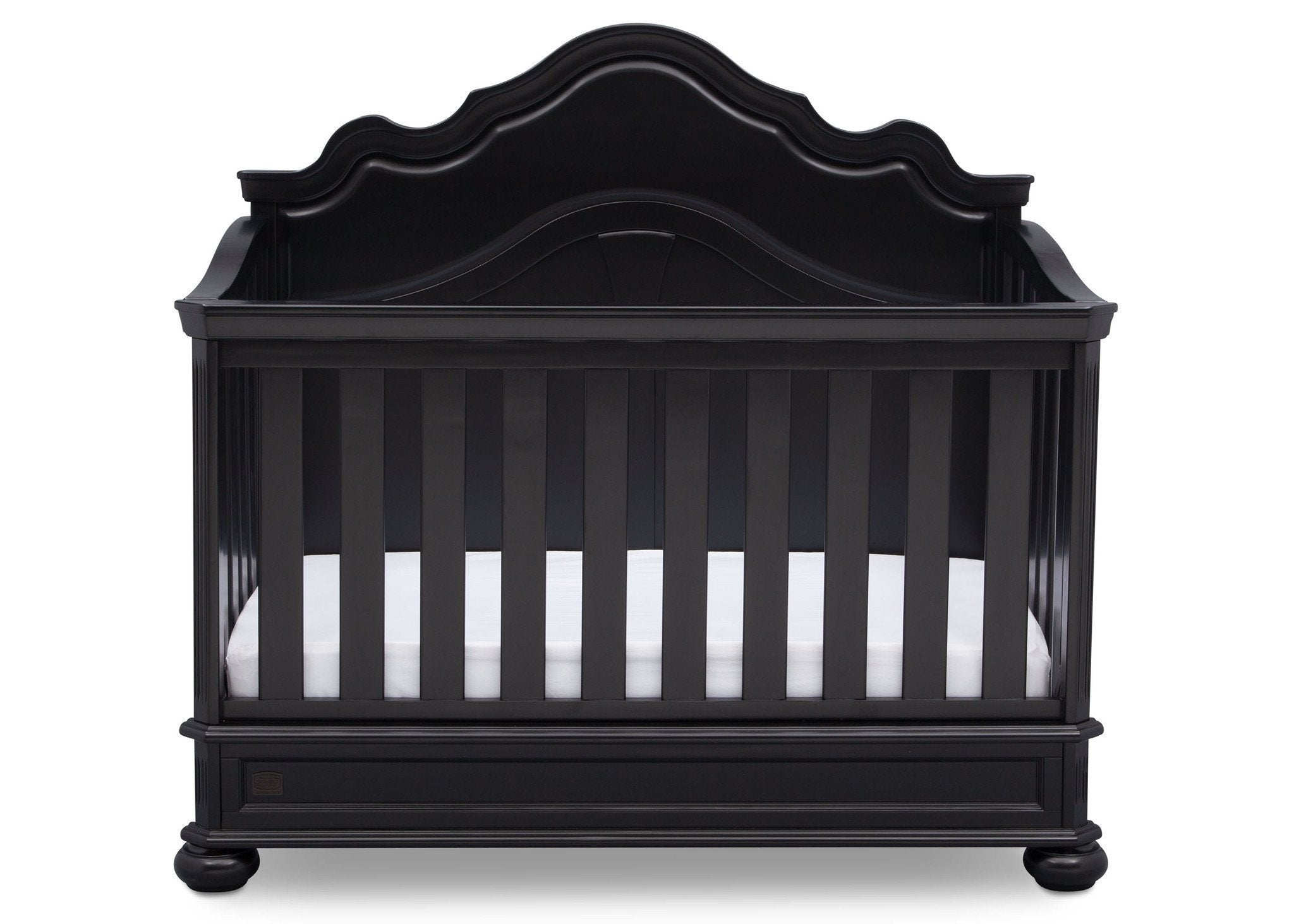 Simmons Kids Ebony (0011) Peyton Crib n' more front view b2b