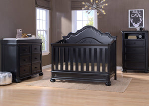 Simmons Kids Ebony (0011) Peyton Crib n' more Room View b1b