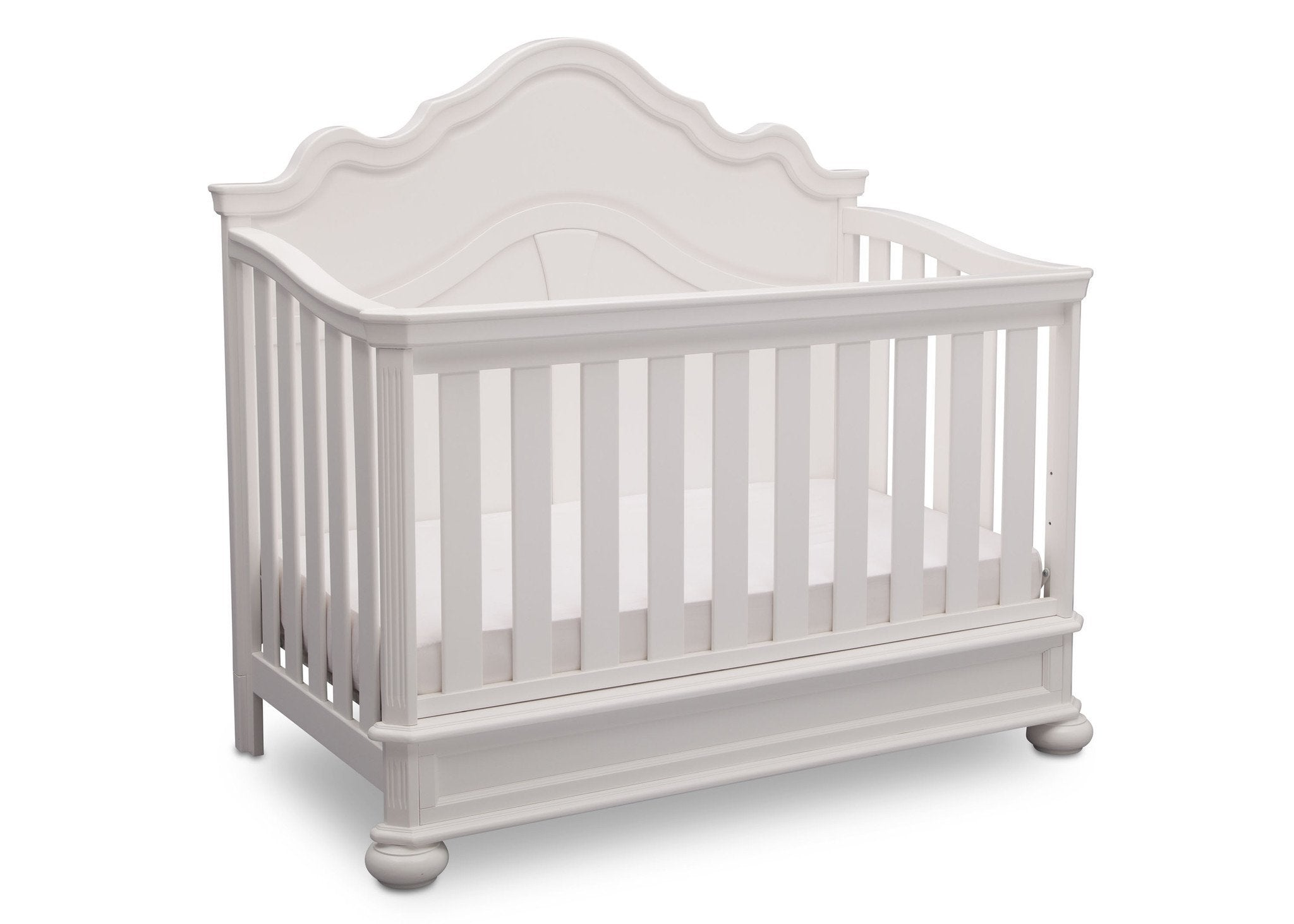Simmons Kids Bianca (130) Peyton Crib n' more side view a3a