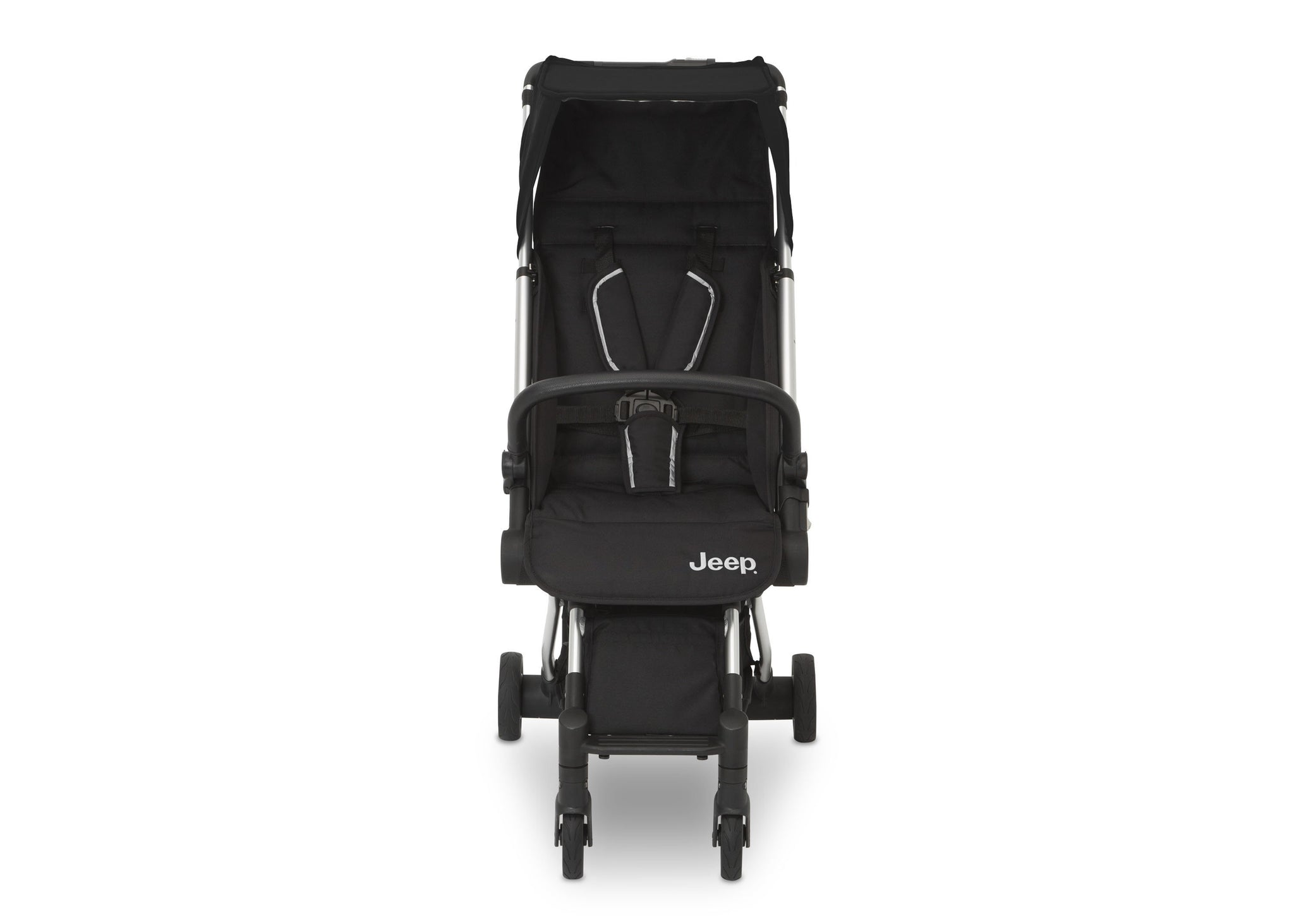 Jeep Jet Black (2095) Arrow Travel Stroller, Front Silo View