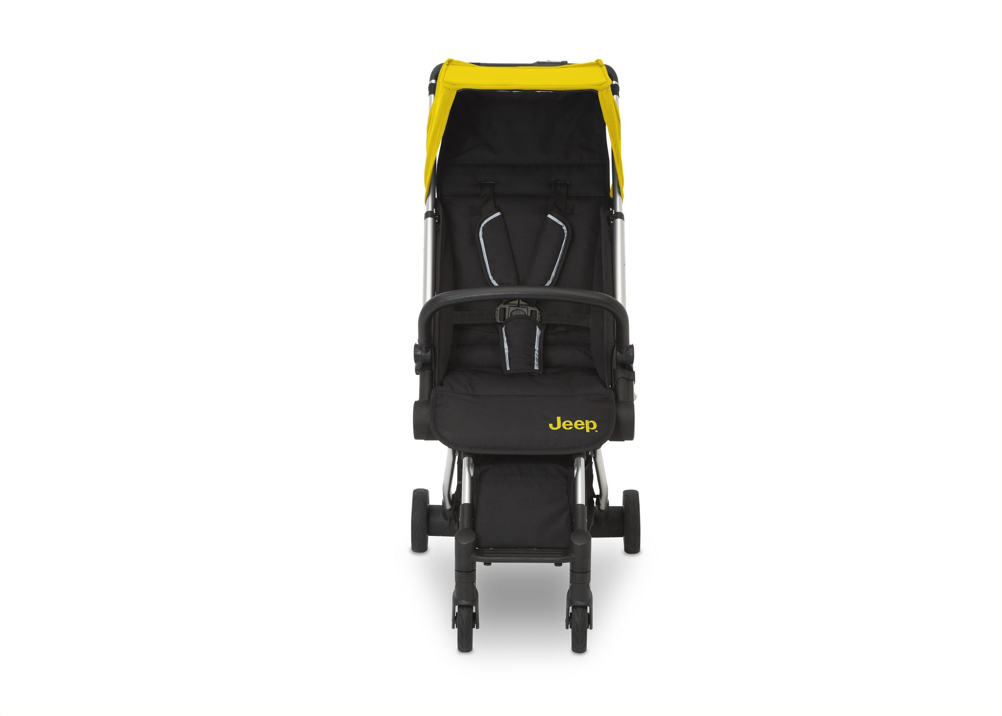Jeep Yellow (2121) Arrow Travel Stroller, Front Silo View