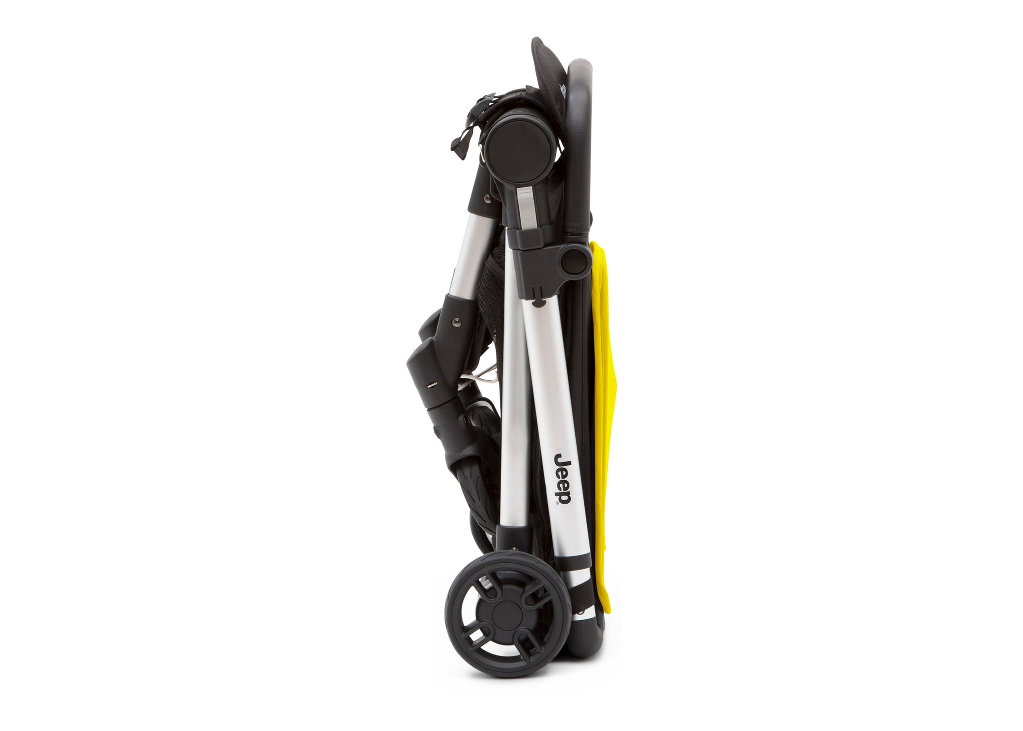 Jeep Yellow (2121) Arrow Travel Stroller, Folded View