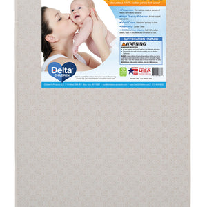 Twinkle Stars 3-Inch Mini Crib Mattress with 100% Cotton Fitted Crib Sheet