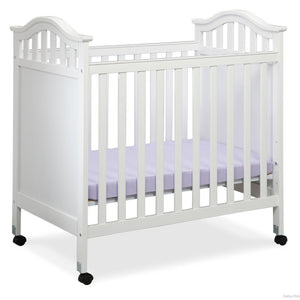 Delta Children White (100) Bella Cozy Portable Crib Side View Left a2a