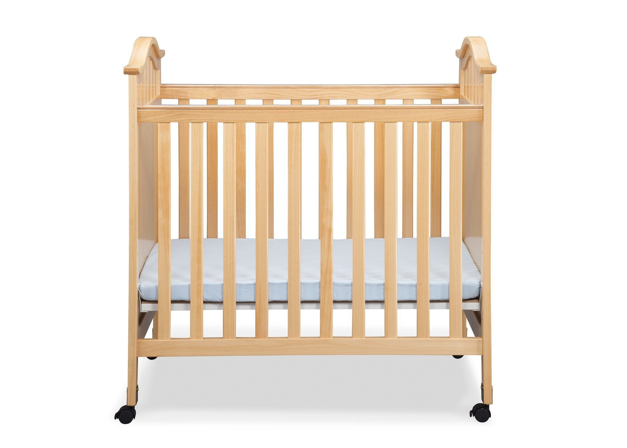 Delta Children Natural (260) Bella Cozy Portable Crib Front View c1c