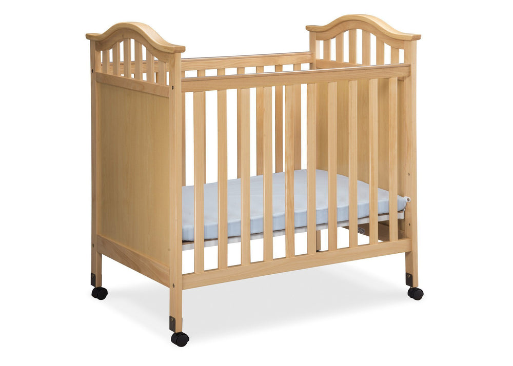 Delta Children Natural (260) Bella Cozy Portable Crib Side View Right c2c