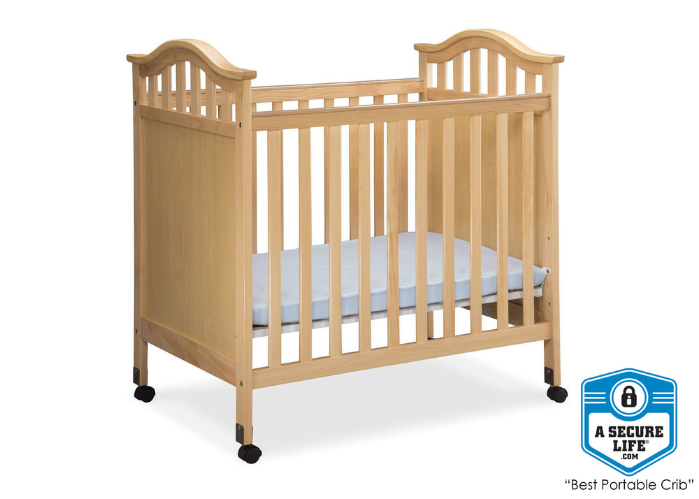 Delta Children Natural (260) Bella Cozy Portable Crib Side, With Seal, c3c