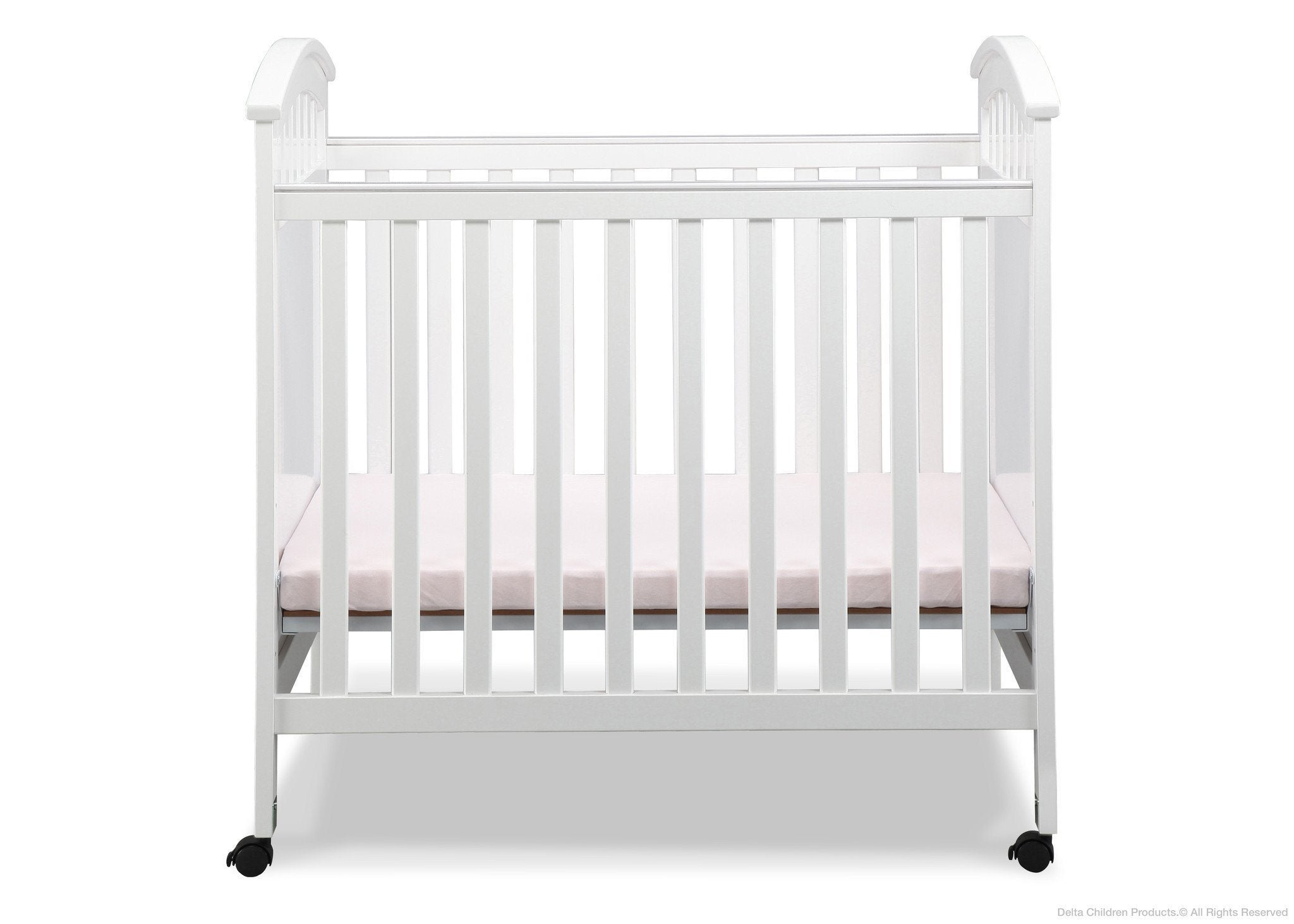 Delta Children White (100) Americana Cozy Crib Front View a2a
