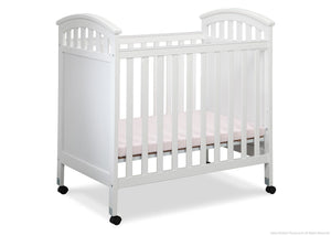 Delta Children White (100) Americana Cozy Crib Side View a1a