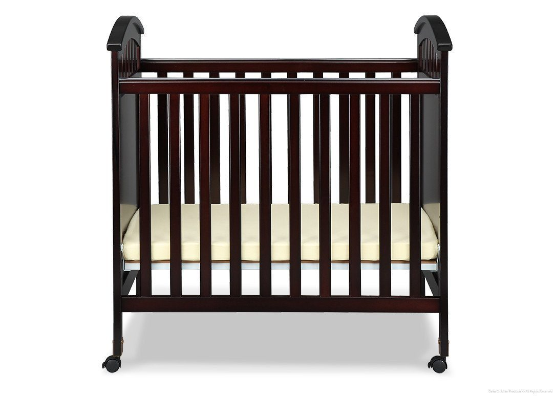 Delta Children Dark Chocolate (207) Americana Cozy Crib Front View b2b