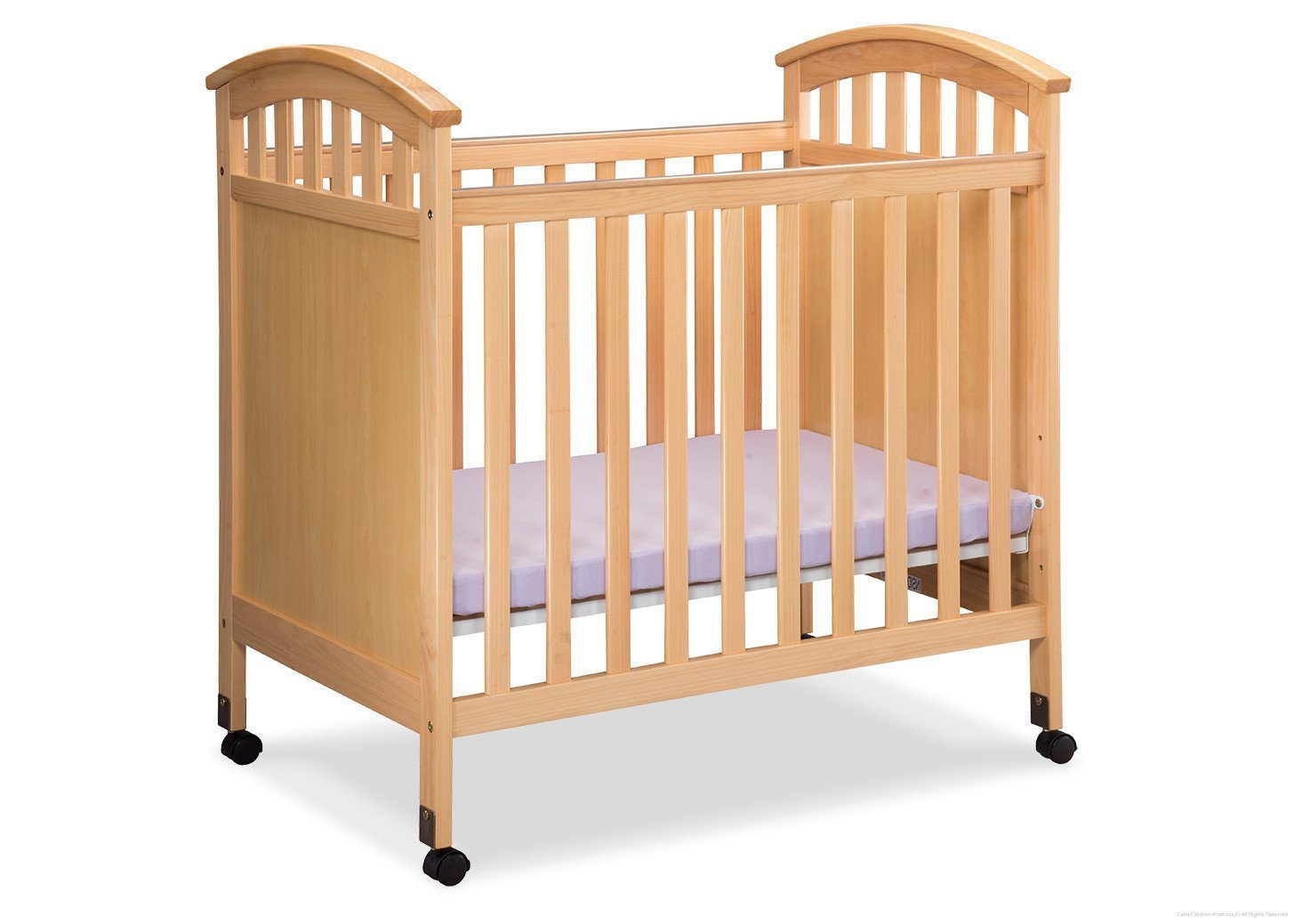 Delta Children Natural (260) Americana Cozy Crib Side View c1c
