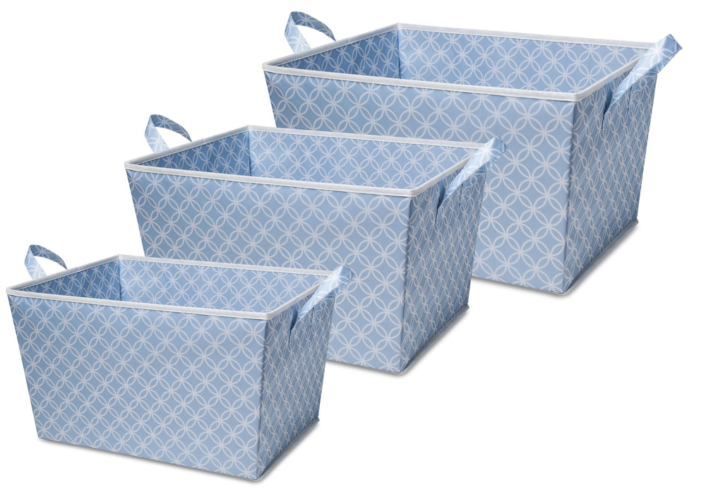 Delta Children Set of Three Tapered Totes (477) (SS4462), Set of three, c2c