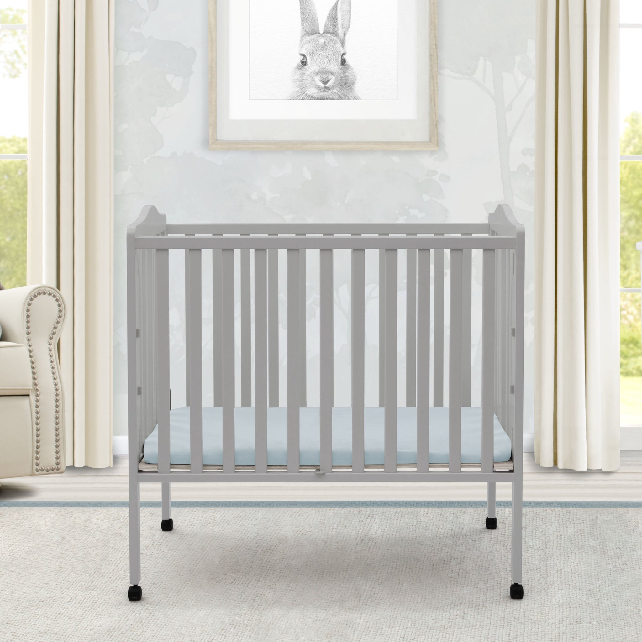 Portable Folding Crib with Mattress