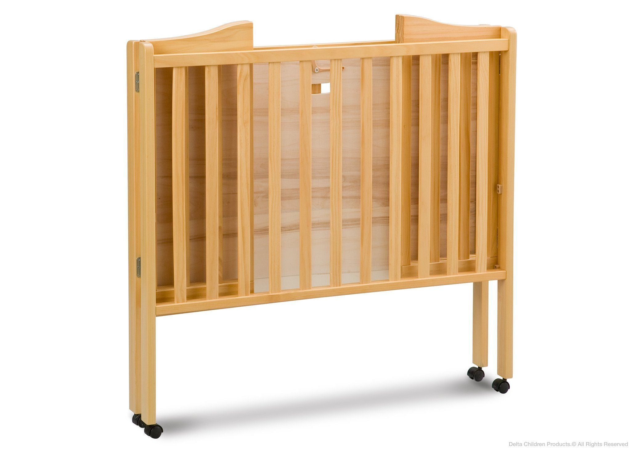 Delta Children Natural (260) Portable Crib, Folded b2b