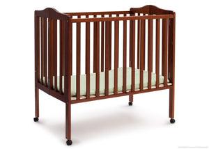 Delta Children Dark Cherry (604) Portable Crib, Option 1c2c