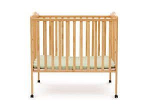Delta Children Natural (260) Portable Crib (4472), Front View a1a