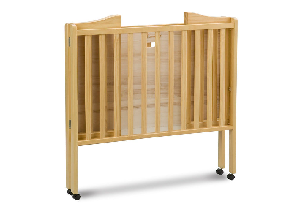 Delta Children Natural (260) Portable Crib (4472), Folded 1 a4a
