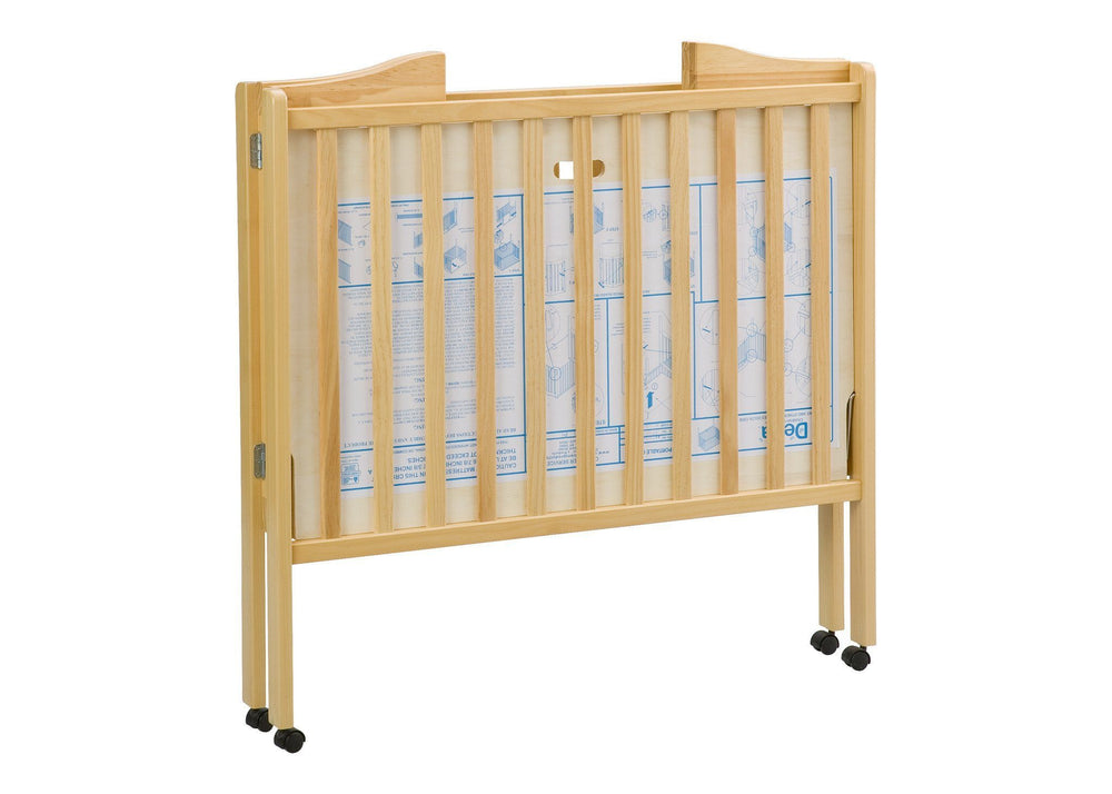 Delta Children Natural (260) Portable Crib (4472), Folded 2 a5a