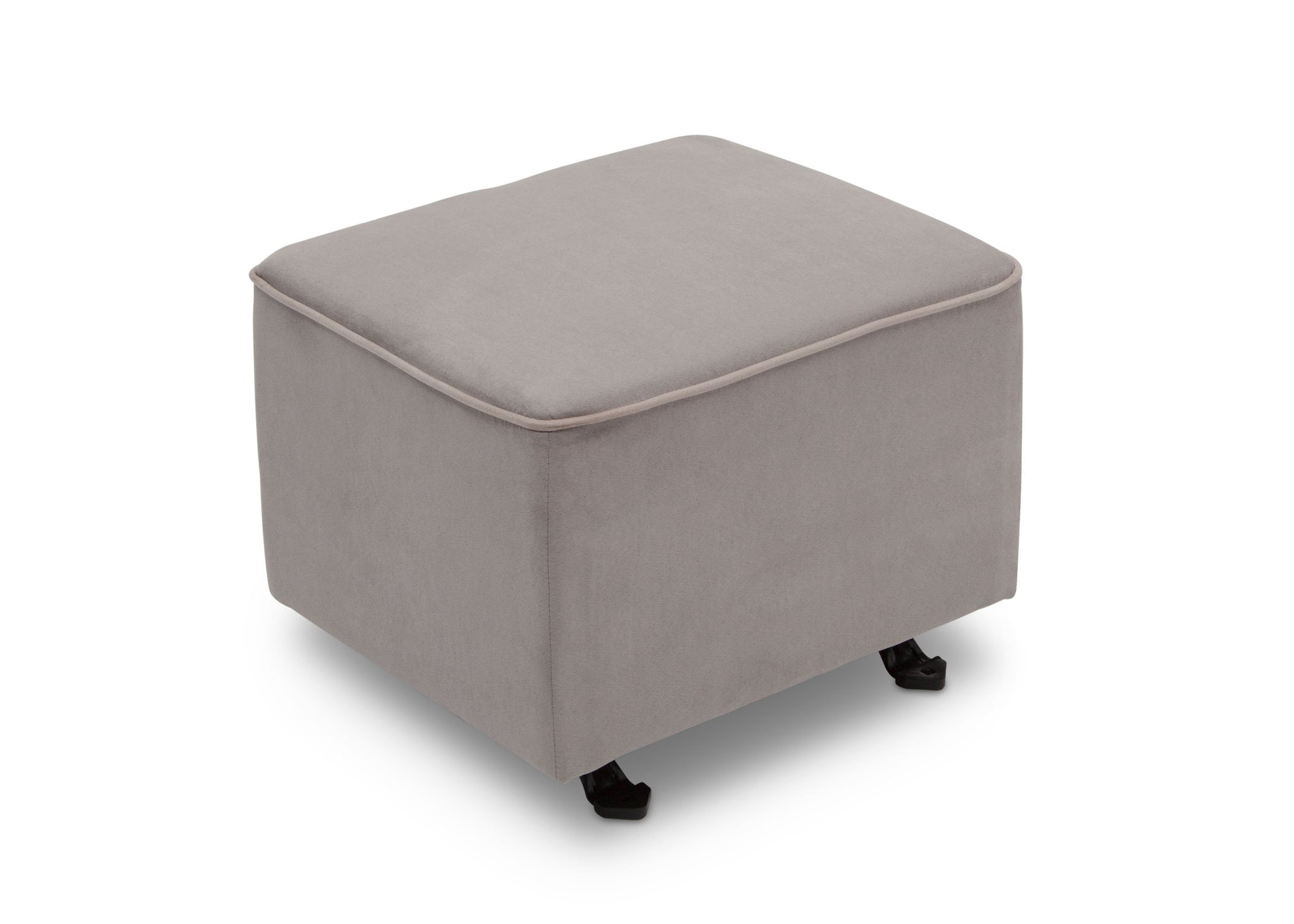 Delta Children Dove Grey with Soft Grey Welt (036) Nursery Gliding Ottoman (501220), Sideview, b3b