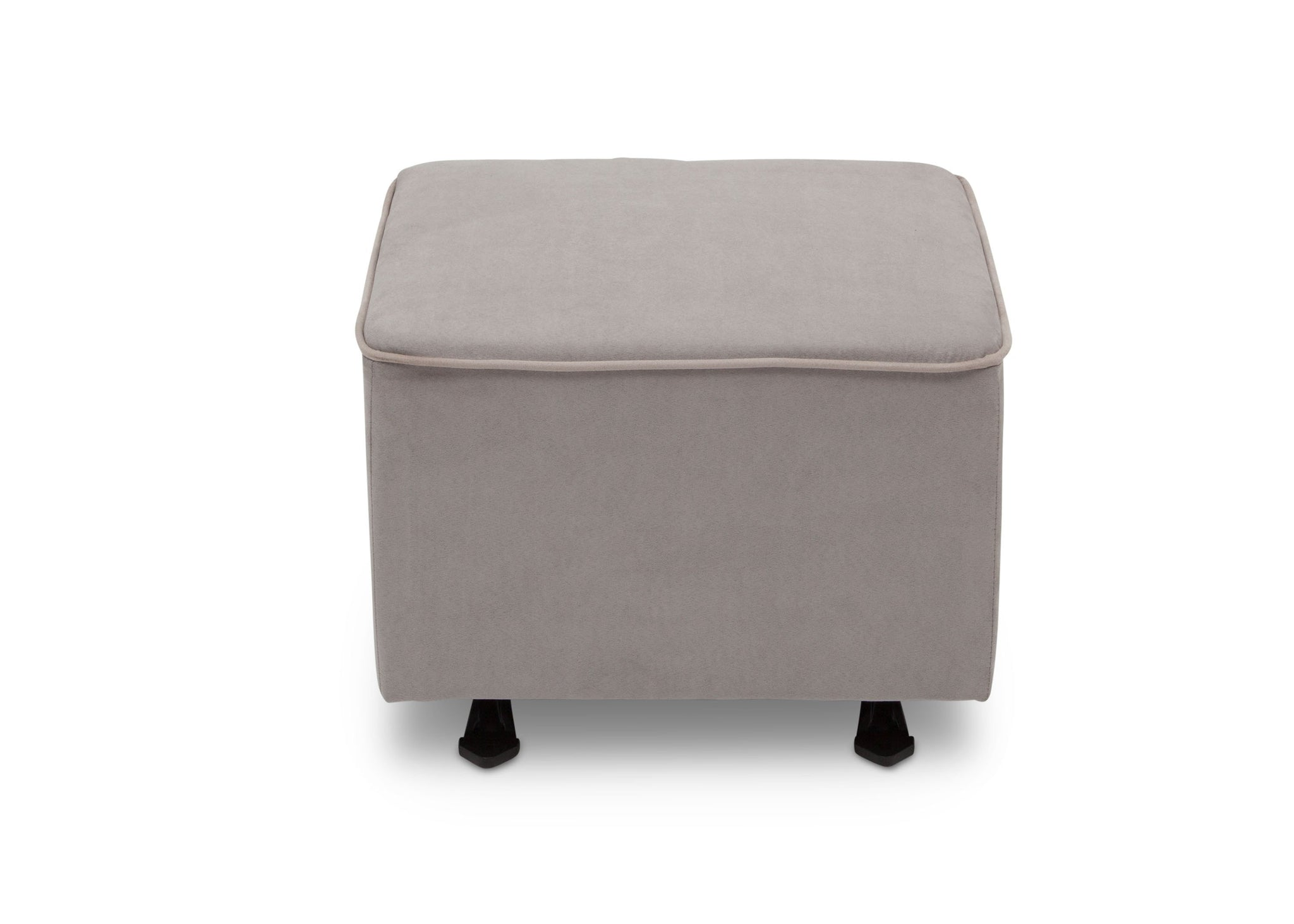 Delta Children Dove Grey with Soft Grey Welt (036) Nursery Gliding Ottoman (501220), Front View, b2b