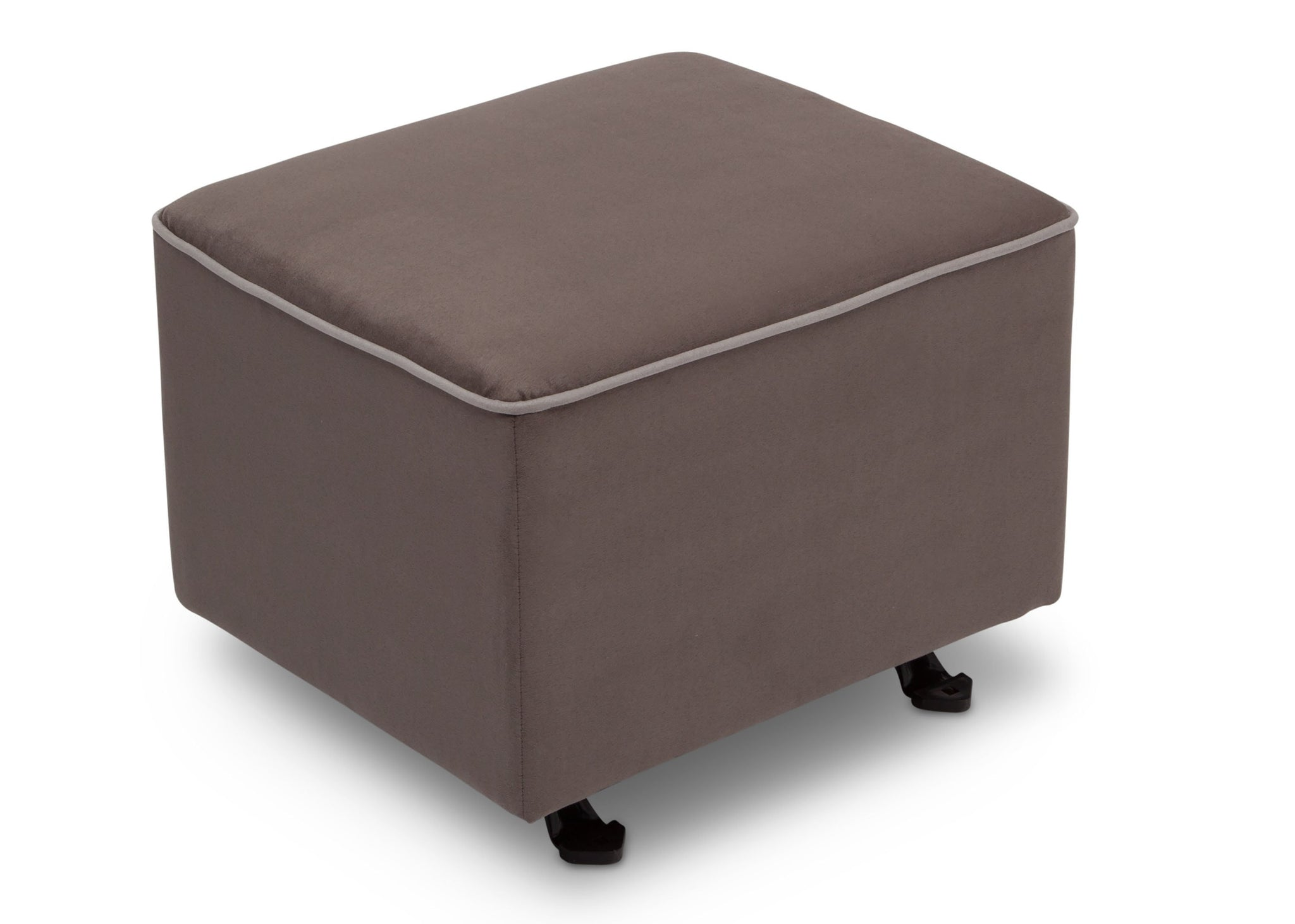 Delta Children Graphite with Dove Grey Welt (944) Nursery Gliding Ottoman (501220), Sideview, d3d