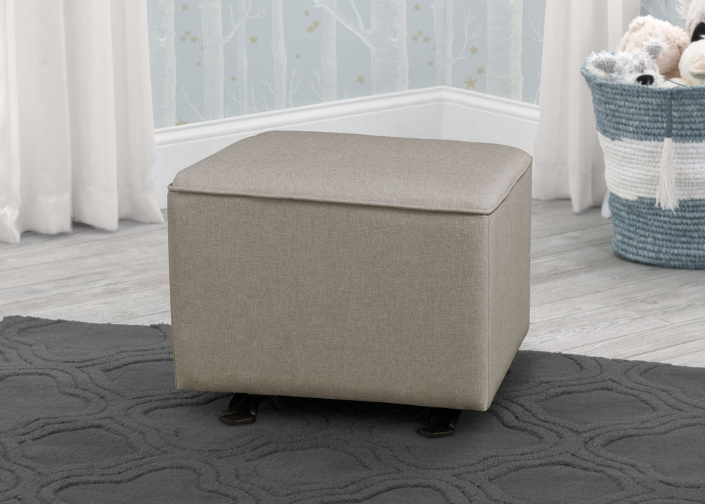 Delta Children Heather Grey (053) Non Tufted Ottoman (501320), hangtag a1a