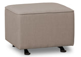Delta Children Heather Grey (053) Non Tufted Ottoman (501320), Right Silo a3a