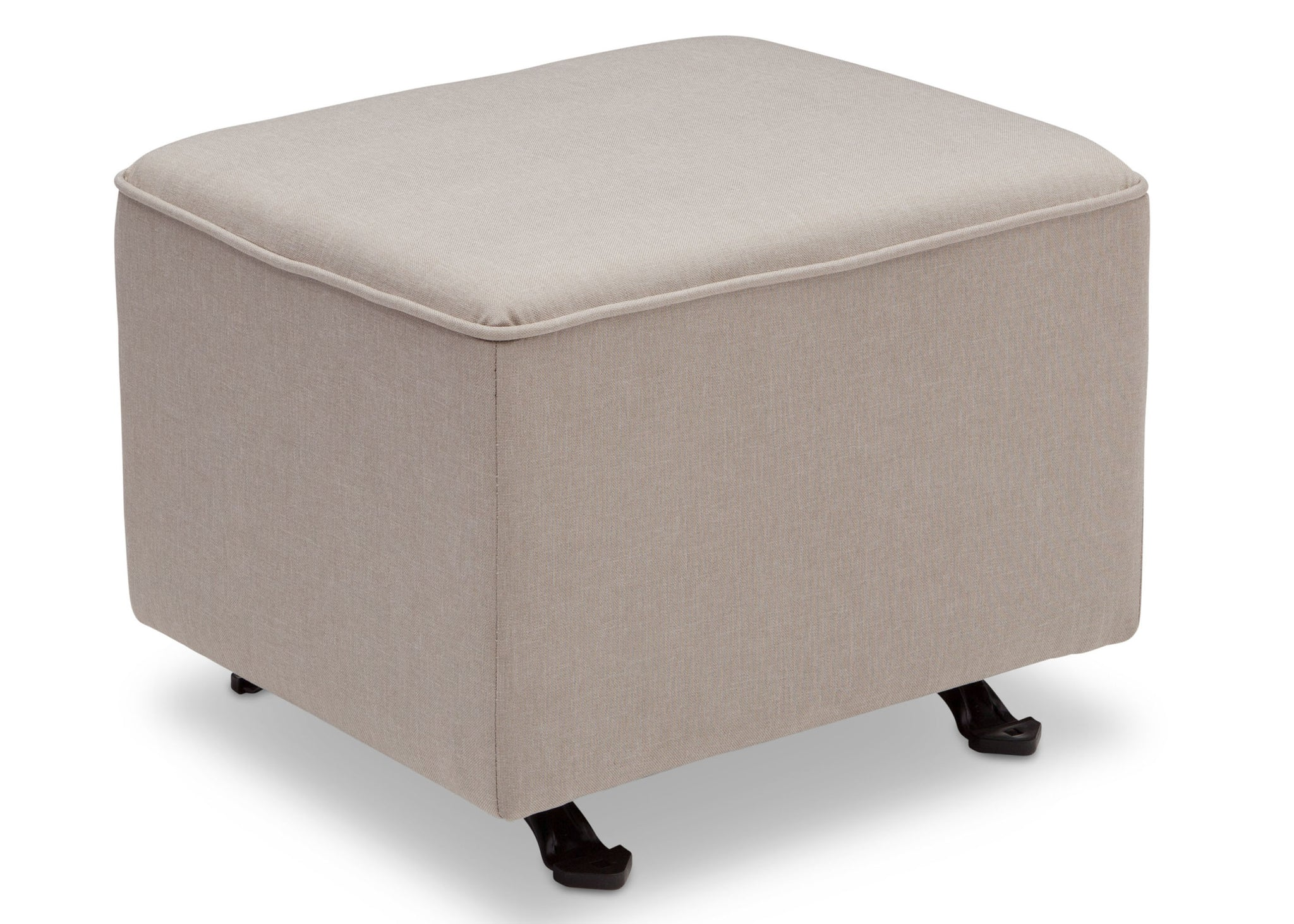 Delta Children Taupe (065) Non Tufted Ottoman (501320), Right Silo b3b