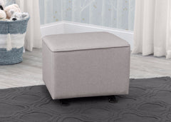 Delta Children Heather Grey (1304E) Parker Nursery Gliding Ottoman, hangtag, d1d