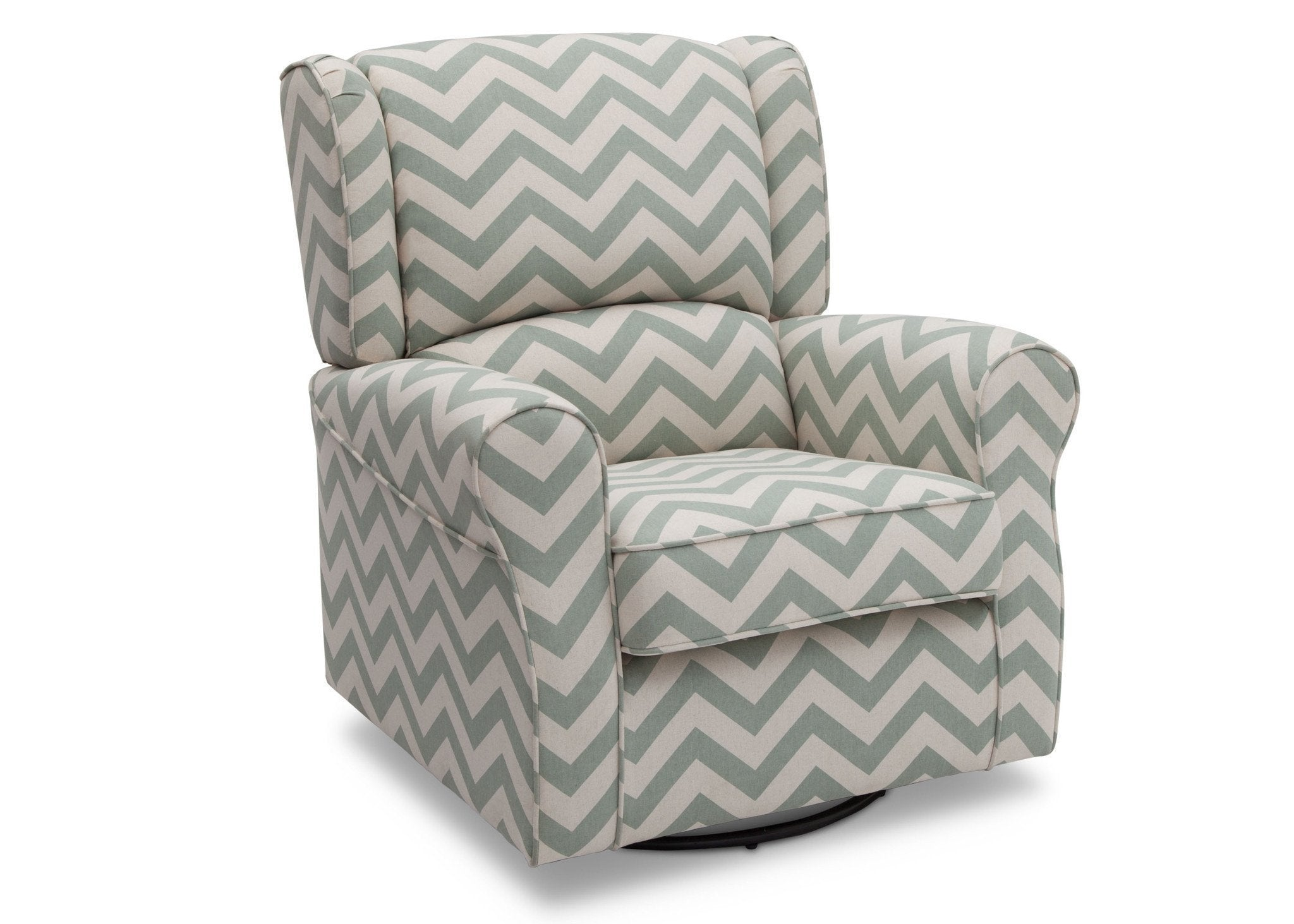 Delta Children Morgan Sage Chevron (316) Glider Right View b1b