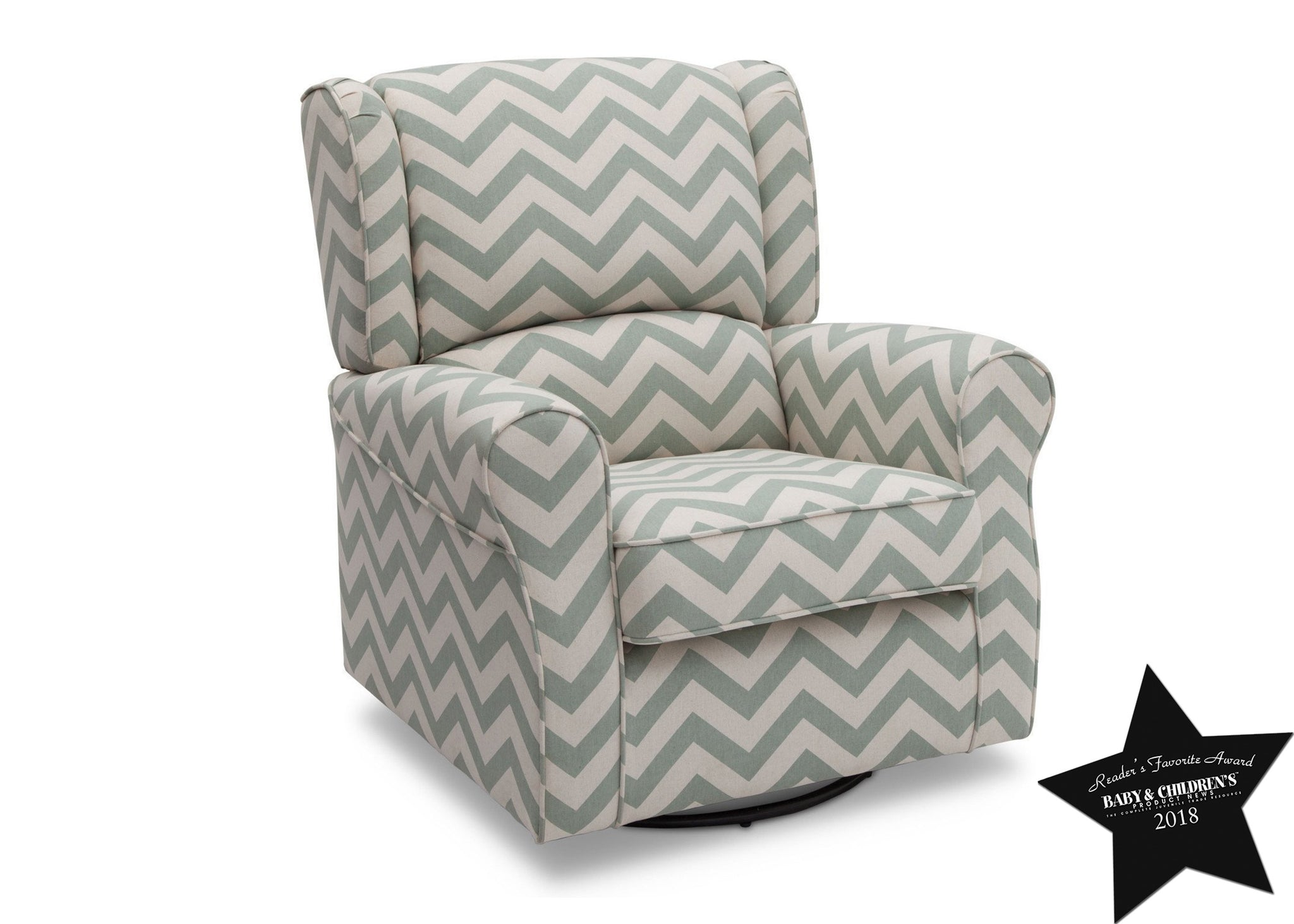 Delta Children Morgan Sage Chevron (316) Glider With Seal b4b
