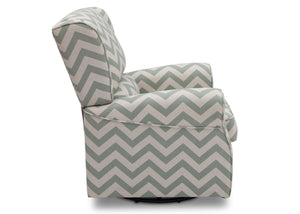Delta Children Morgan Sage Chevron (316) Glider Full Side View b3b
