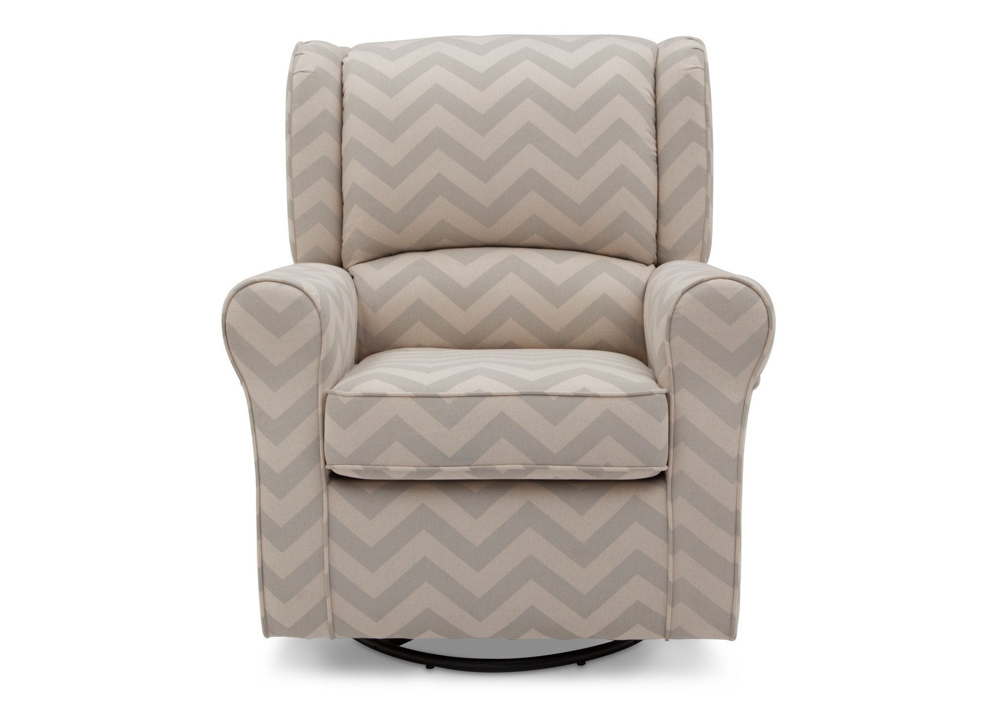 Delta Children Morgan Grey Chevron (900) Glider Front View a2a