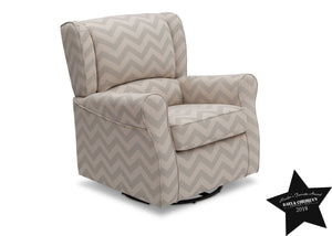 Delta Children Morgan Grey Chevron (900) Glider With Seal a4a