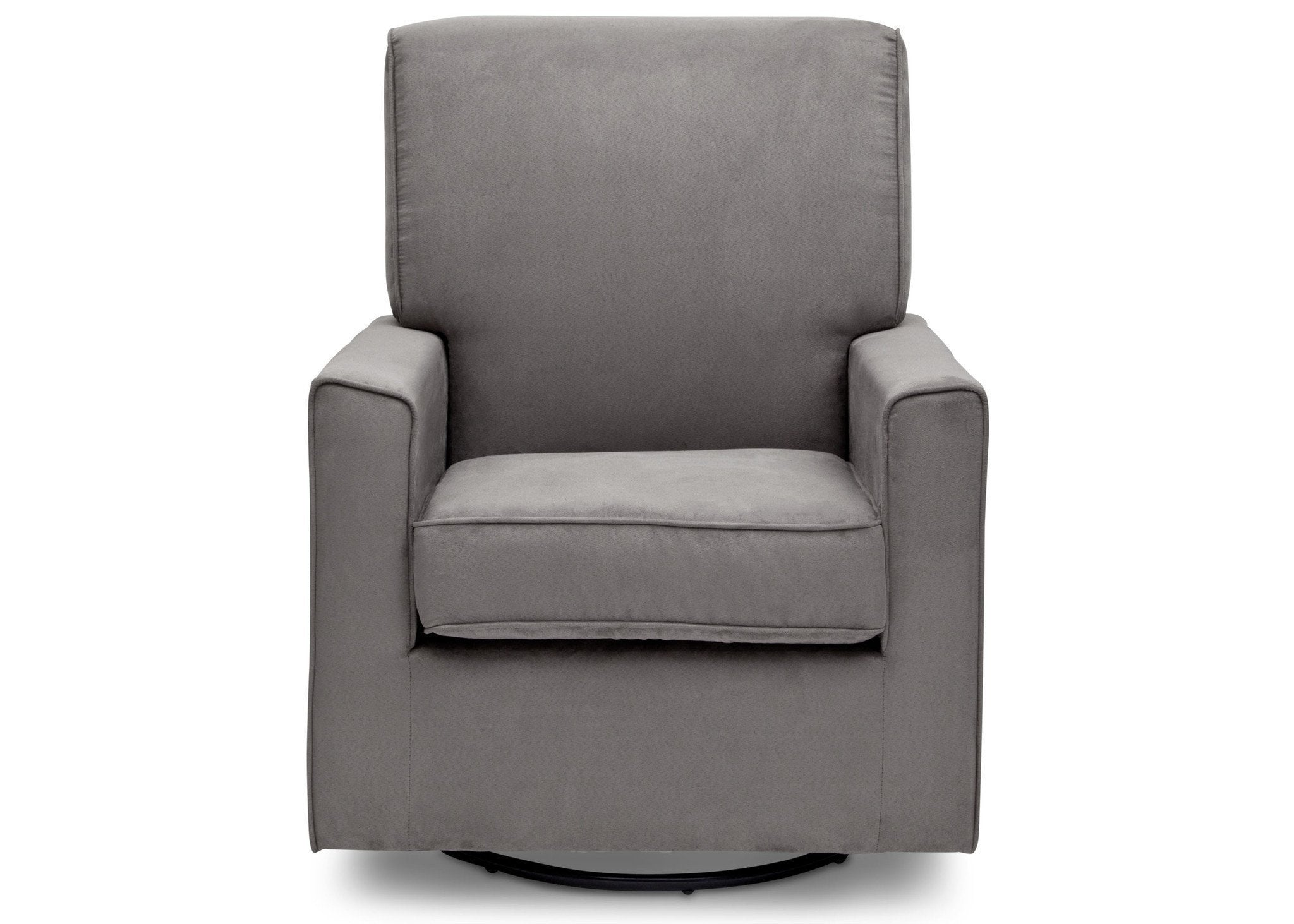 Delta Children Graphite (018) Ava Upholstered Glider Front View a2a