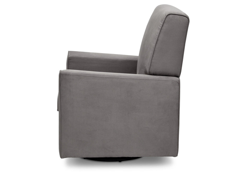 Delta Children Graphite (018) Ava Upholstered Glider Full Side View a4a