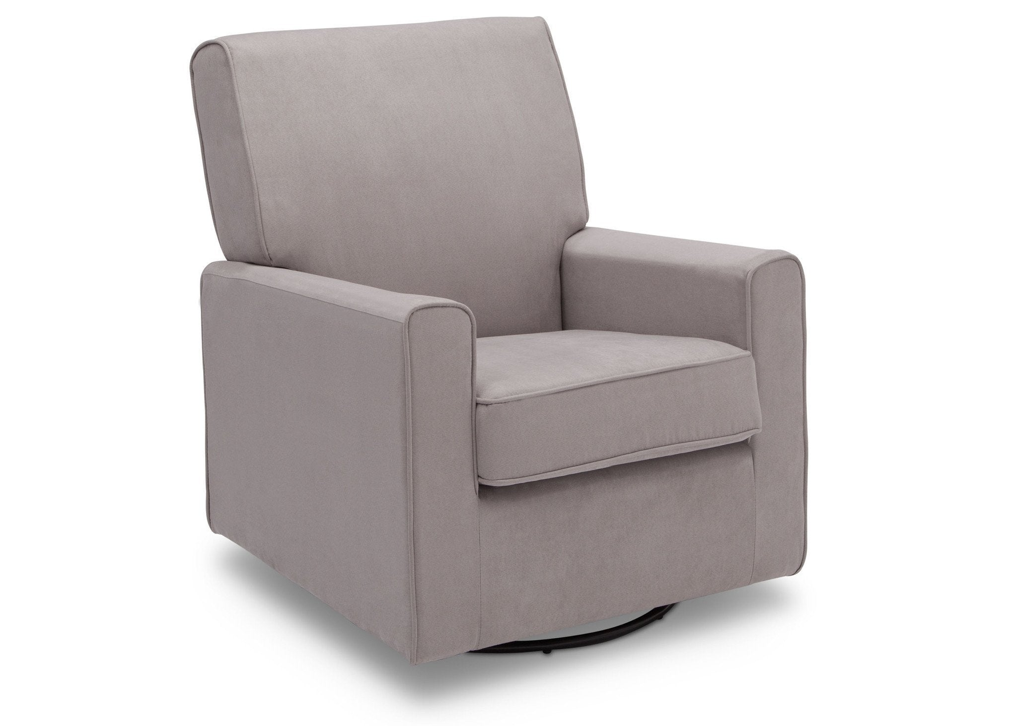 Delta Children Dove Grey (034) Ava Upholstered Glider Side View b3b