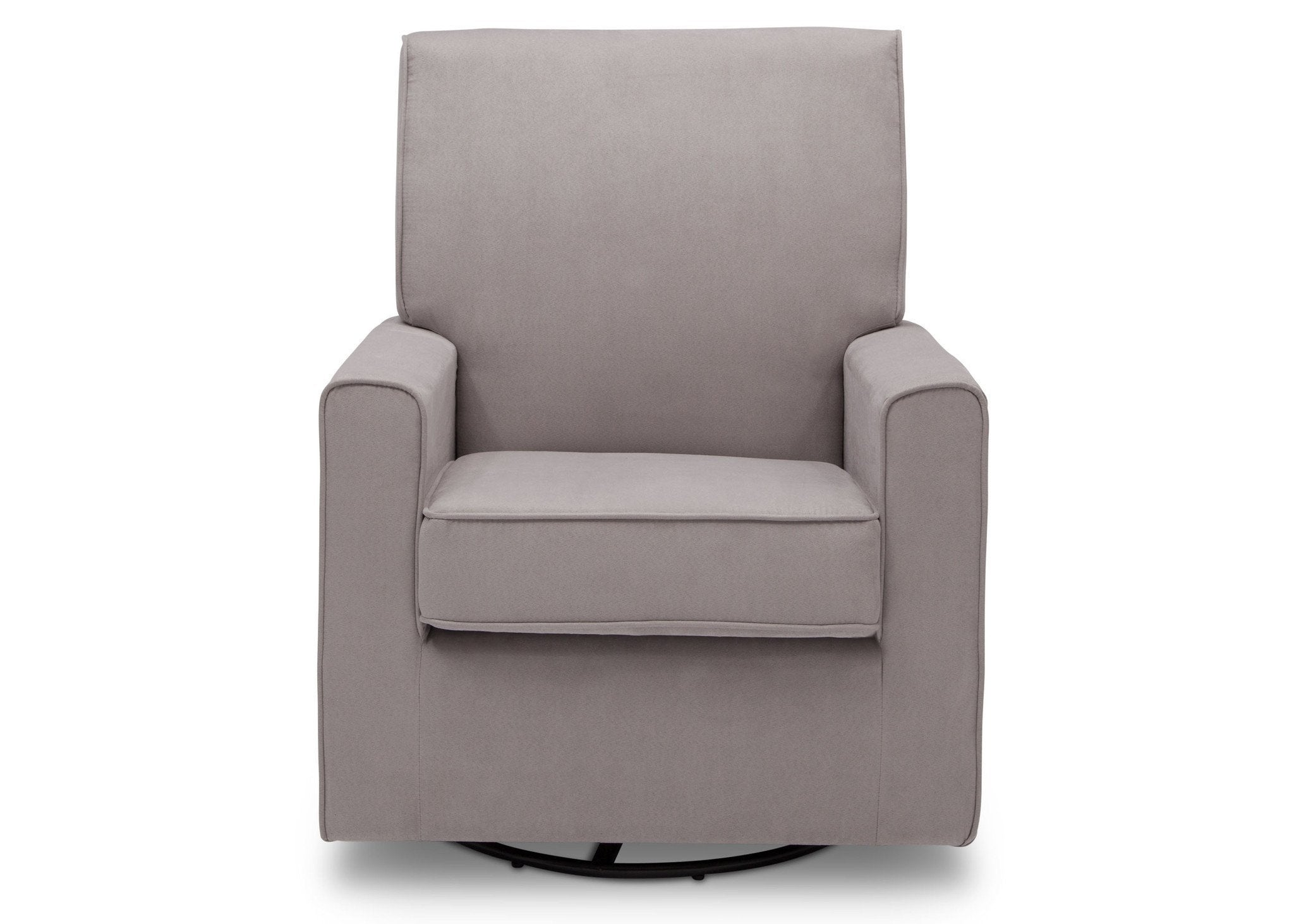 Delta Children Dove Grey (034) Ava Upholstered Glider Front View b2b