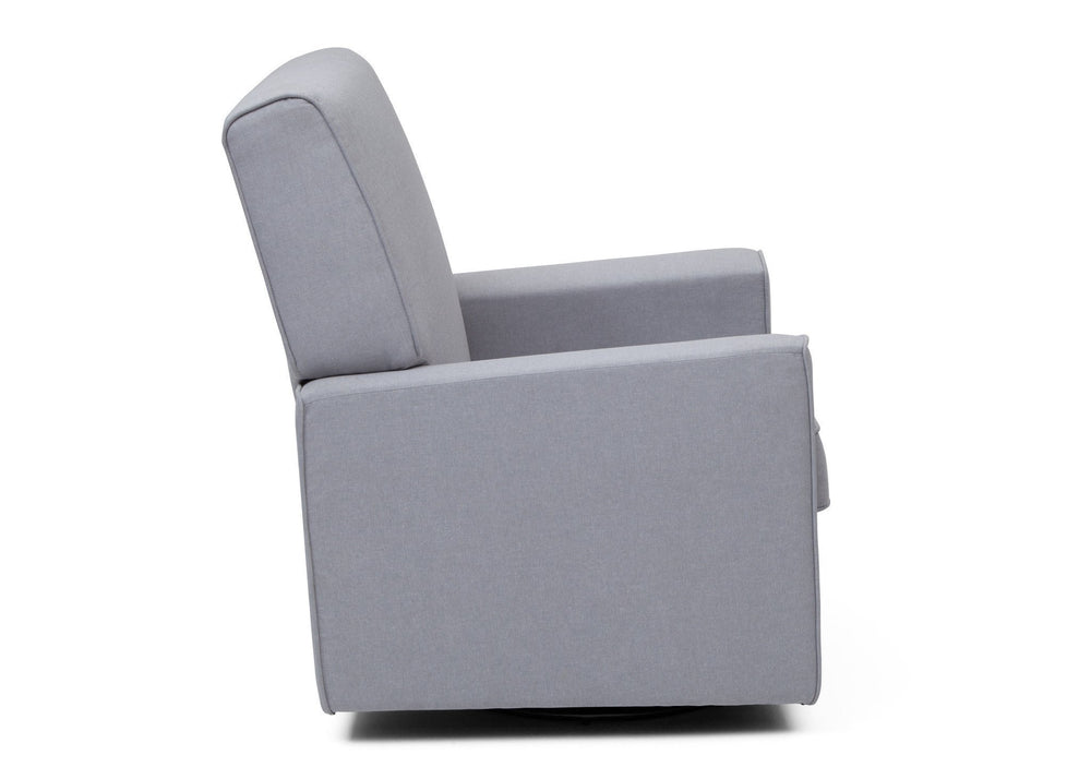 Delta Children Heather Grey (053) Eva Glider Full Side View a4a