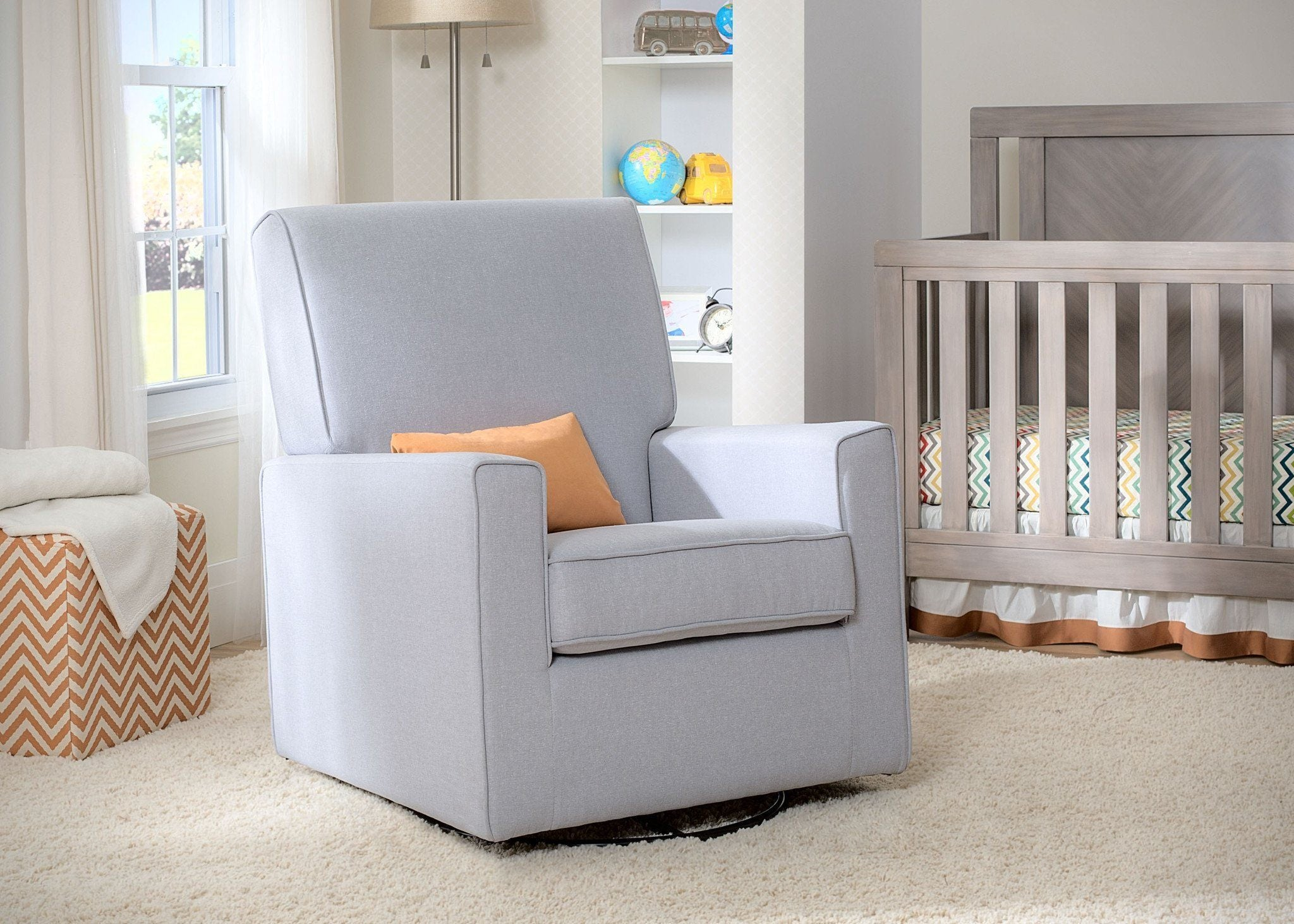 Delta Children Heather Grey (053) Eva Glider Room a1a