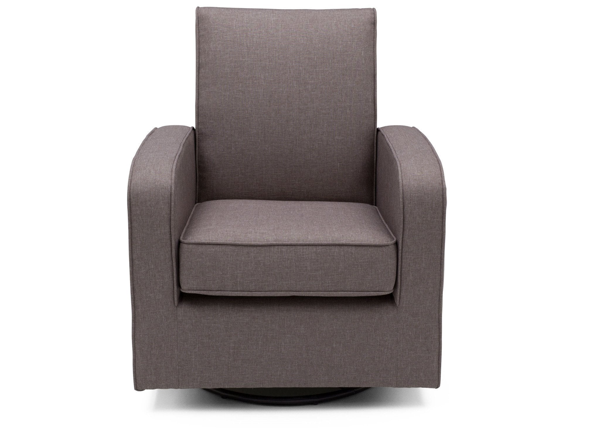 Delta Children Twilight Grey (076) Charlotte Nursery Glider Swivel Rocker Chair, Front View, a2a