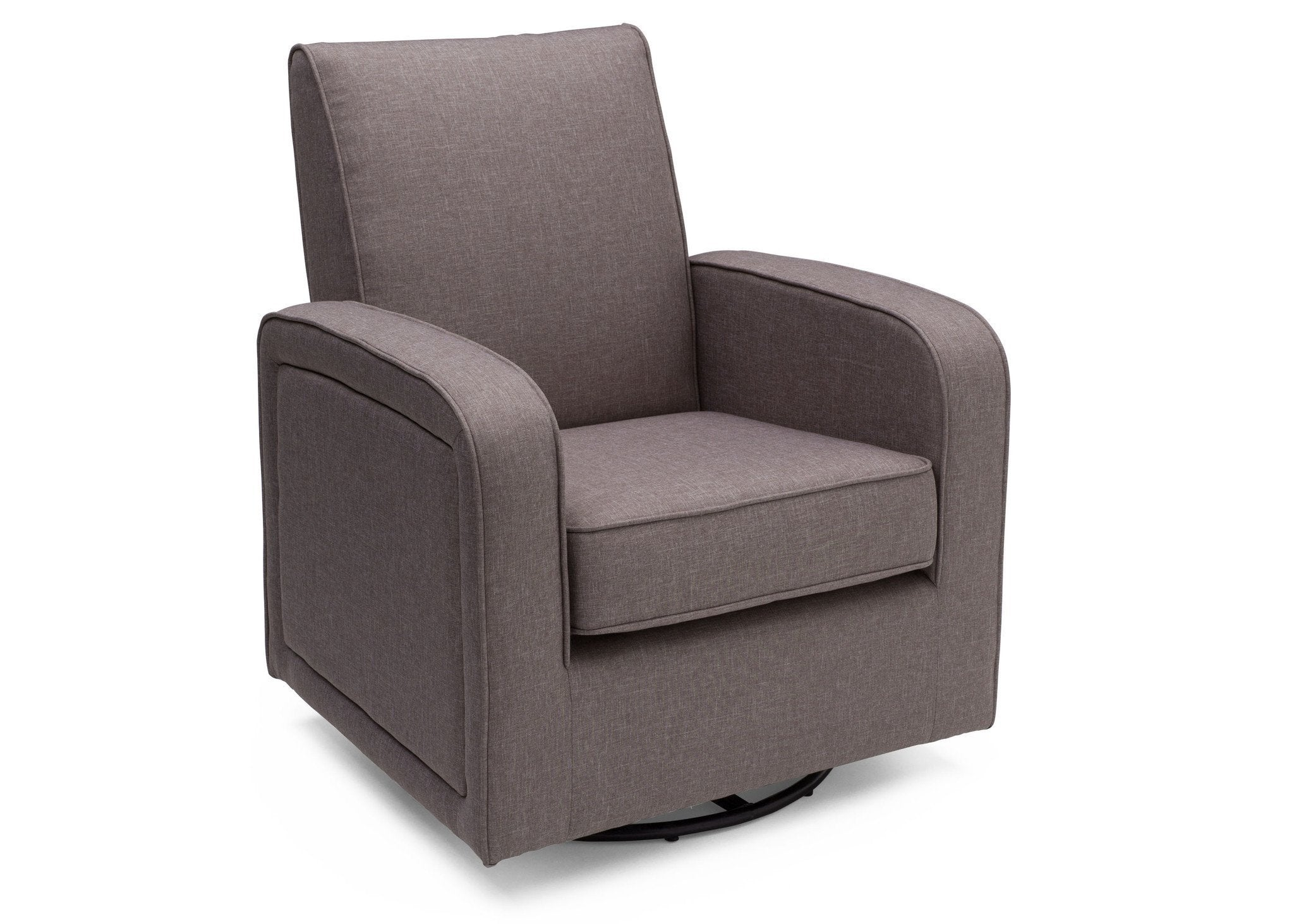 Delta Children Twilight Grey (076) Charlotte Nursery Glider Swivel Rocker Chair, Right Side View, a3a