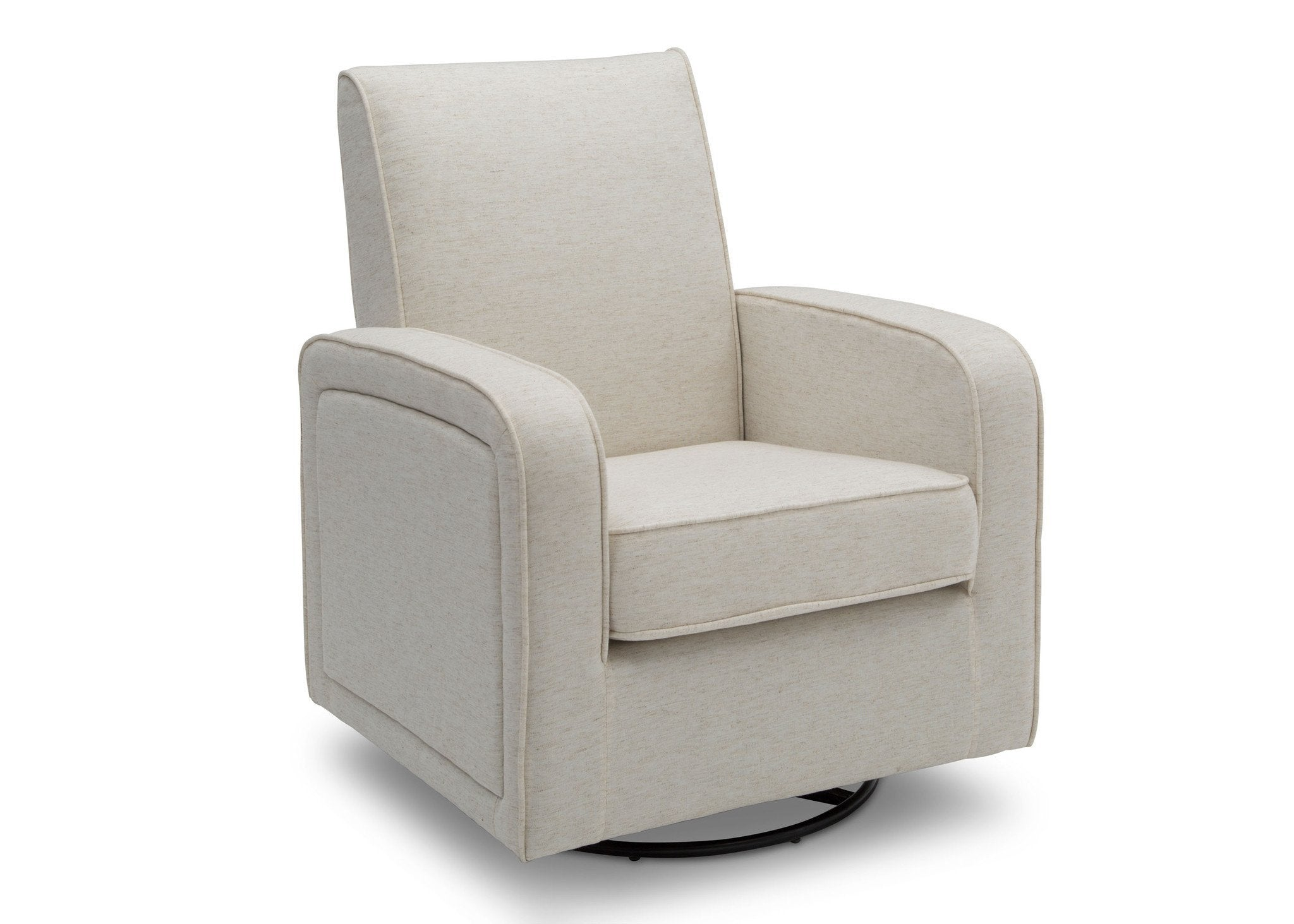 Delta Children Sand (921) Charlotte Nursery Glider Swivel Rocker Chair, right side view, b3b