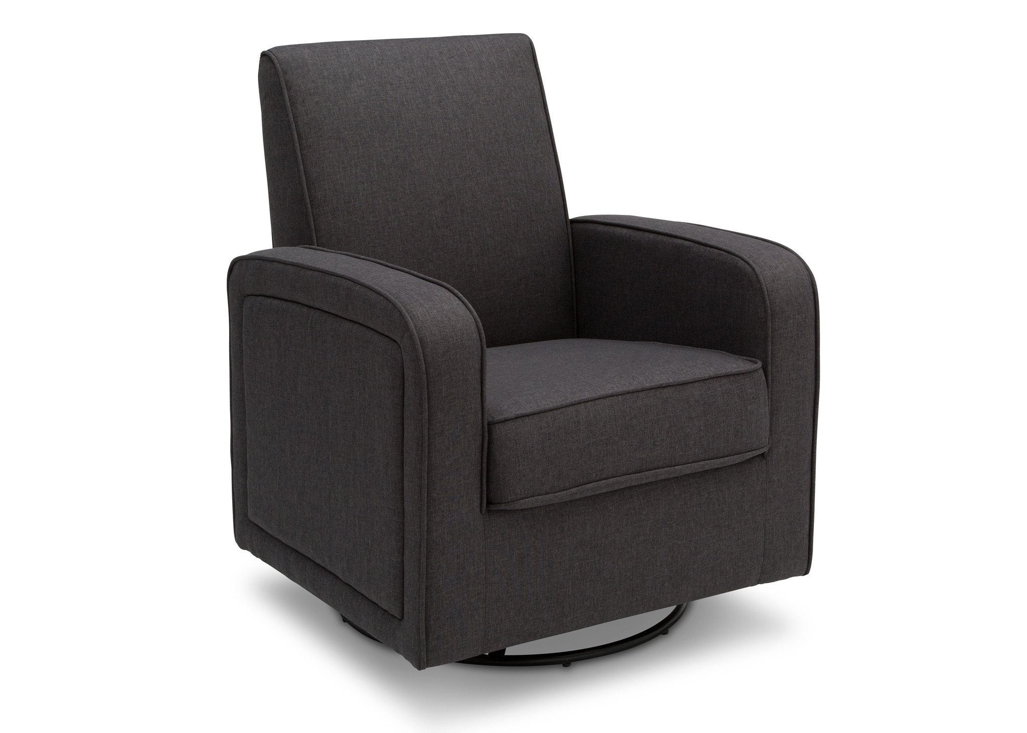 Delta Children Charcoal (931) Charlotte Nursery Glider Swivel Rocker Chair,  right side view c3c