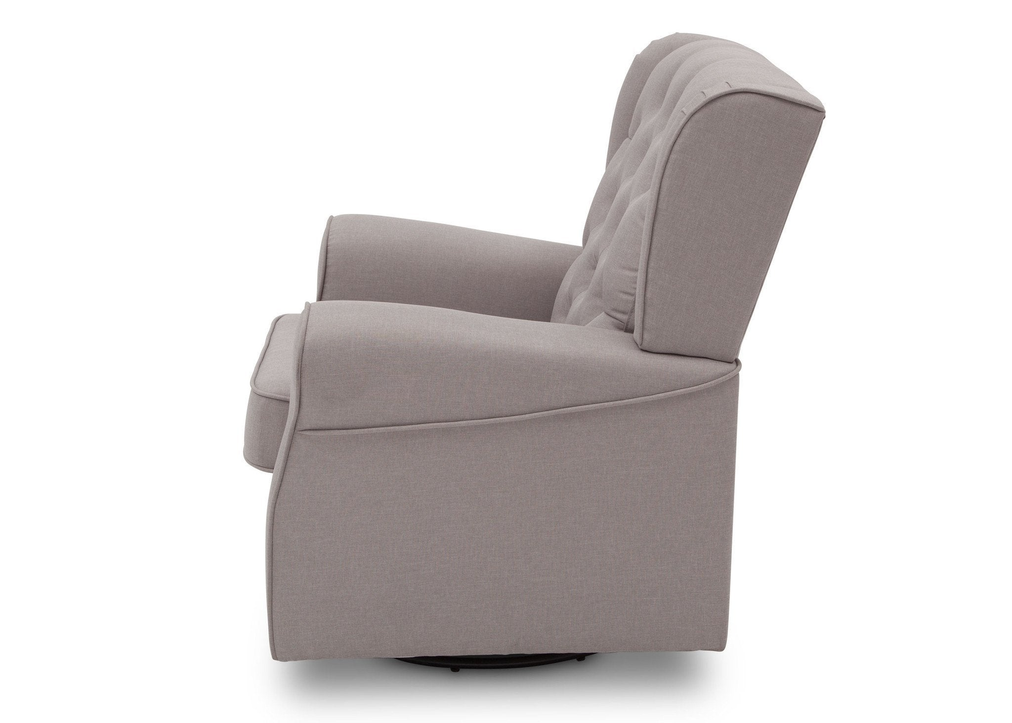 Delta Children French Grey (1304) Emma Tufted Glider, left side view, c4c