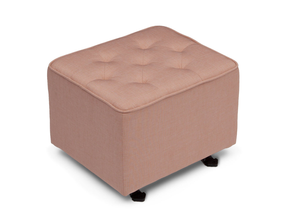 Delta Children Blush (636) Emma Diamond Tufted Nursery Gliding Ottoman, side view, a1a