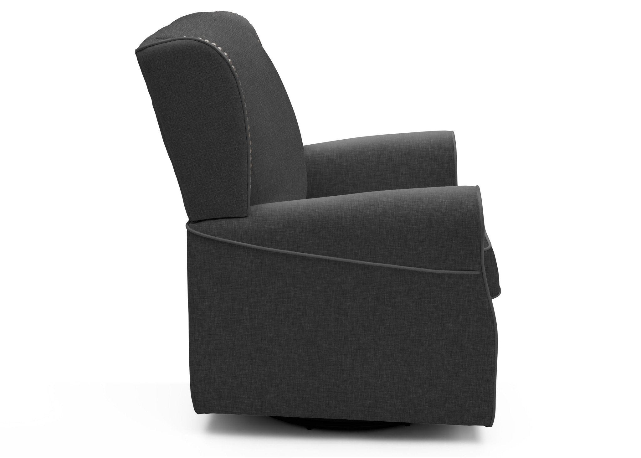 Delta Children Charcoal Grey (931) Middleton Glider room shot d1d