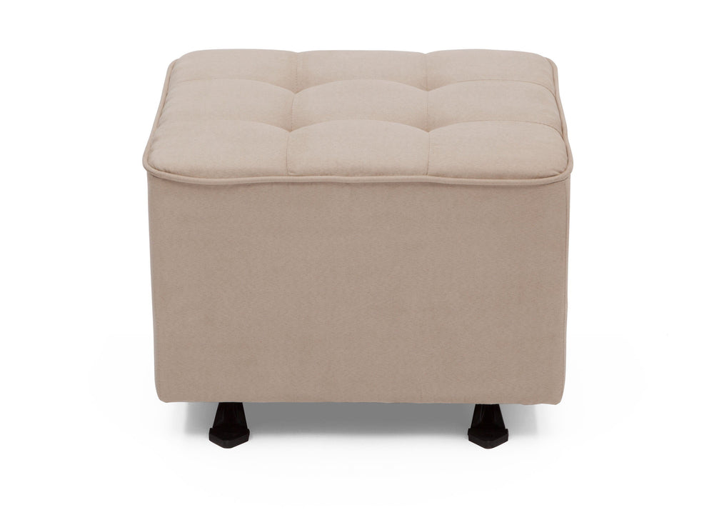 Delta Children Ecru (277) Tufted Nursery Gliding Ottoman, front view, b2b